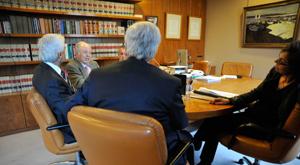 El reconocido abogado de Barcelona Josep Colls Alsius y los socios abogados de Bufet Colls José Plass, Marta Colls, Ignacio de Muller e Ignacio Colls