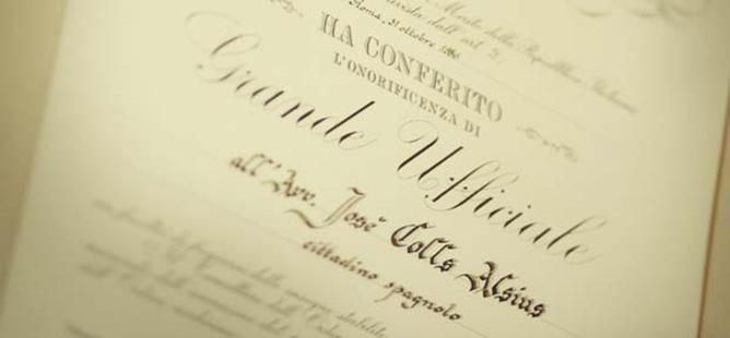 Italian Desk Studio Legale Colls. Josep Colls Avvocato Socio Fondatore 1956